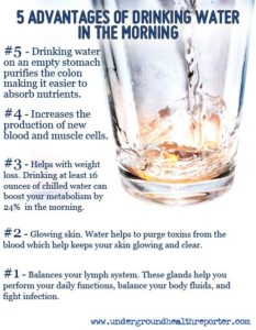 5 Advantages To Drinking Water First Thing In The Morning