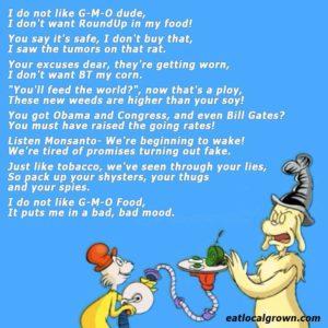 I Do Not Like Your GMOs!