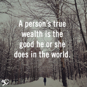 A Person's True Wealth