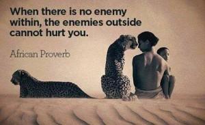 Defeat First The Enemy Within
