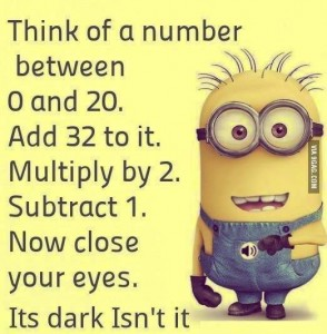 Think Of A Number...  Smirk time...