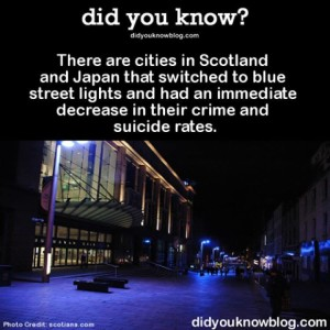 Blue Stree tLights Reduce Crime