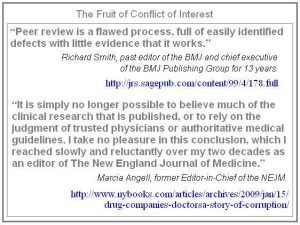 Peer Review Conflict Of Interest