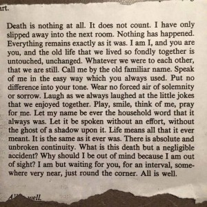 Death Is Nothing - Spirited truth! Love it!