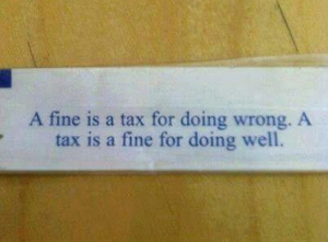 Ever Wonder The Difference Between A Fine And A Tax?