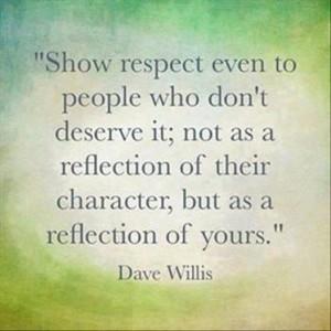 Show Respect....