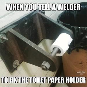 Fix The Toilet Roll Holder He Said  So I did! he said.