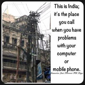 Indian Telephone Pole