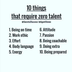 Ten Things That Require Zero Talent