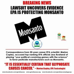 EPA Protecting Monsanto