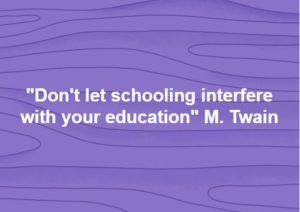 Do Not Let Schooling Interfere With Your Education