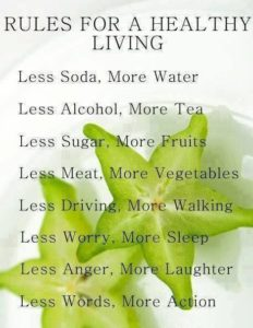 More Rules For Healthy Living
