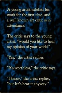 The Artist And The Critic