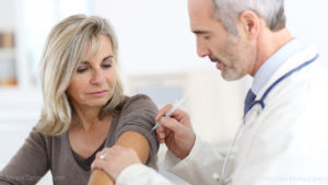 Doctor Giving Flu Shot