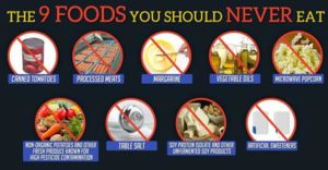 Nine Foods To Avoid